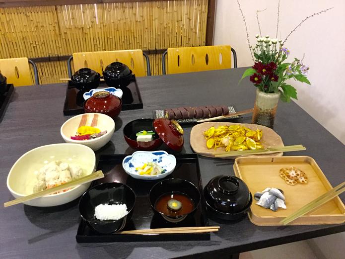 平成二十八年 神無月 茶懐石料理講習 お献立